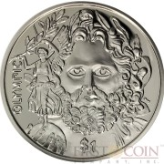 British Virgin Islands ZEUS OLYMPIC Father of the Modern Olympics 150th Birth Anniversary of Baron de Coubertin $1 Cupro Nickel coin 2013