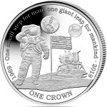 Ascension Island NASA Official Coin 50th ANNIVERSARY Apollo-11 FIRST MAN ON THE MOON 1 Crown Silver plated Cupro-Nickel Coin Proof 2019