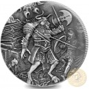 British Indian Ocean Territory THE MINOTAUR series FAMOUS MYTHICAL CREATURES £4 Silver Coin 2018 Antique finish High relief 2 oz