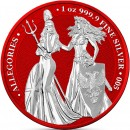 Germania THE ALLEGORIES BRITANNIA & GERMANIA SPACE RED series SPACE EDITION 5 Mark 2019 Silver Coin 1 oz
