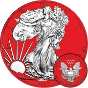 USA American Silver Eagle Walking Liberty RED SPACE series SPACE EDITION $1 Dollar Silver Coin 2019 Galvanic plated 1 oz