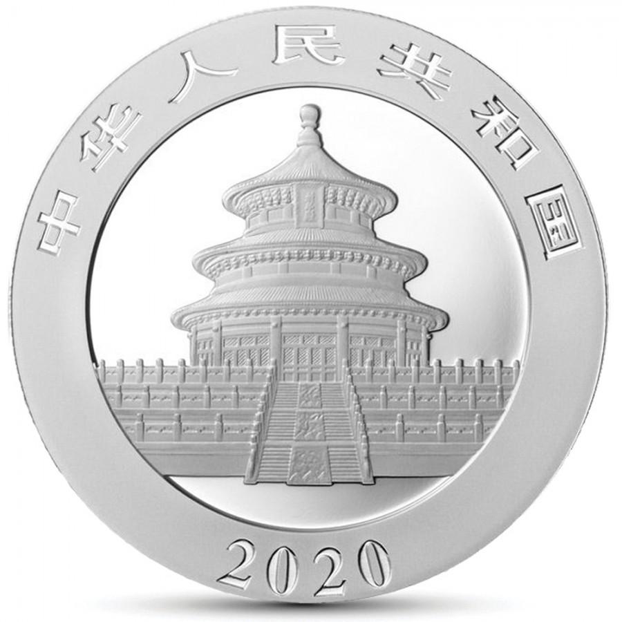 China CORONAVIRUS ALERT COVID-19 - CHINESE PANDA ¥10 Yuan Silver coin 2020 Glow in the Dark 30 grams