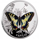 Niue Island OLD WORLD SWALLOWTAIL series BUTTERFLIES $1 Silver Coin 2011 Proof