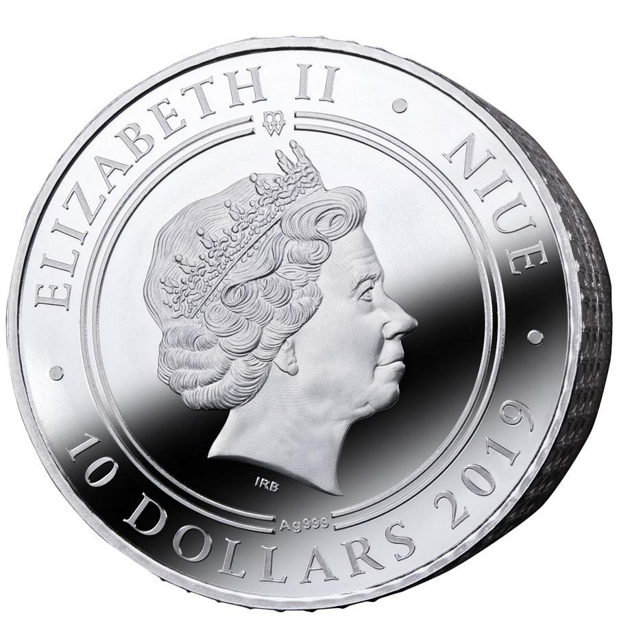 Niue Island Ave Caesar Colosseum 10 Silver Coin 2019