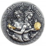 Niue Island APHRODITE AND VENUS series GODDESSES $5 Silver Coin 2020 Ultra High Relief Antique finish Gold plated 2 oz