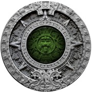 Niue Island AZTEC CALENDAR $2 Silver Сoin 2019 High Relief Antique finish 2 oz