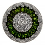 Niue Island CELTIC CALENDAR $2 Silver Сoin 2020 High Relief Antique finish 2 oz