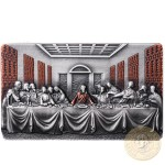 Republic of Cameroon THE LAST SUPPER by Leonardo da Vinci Silver coin 2000 Francs High relief 2019 Antique finish 2 oz