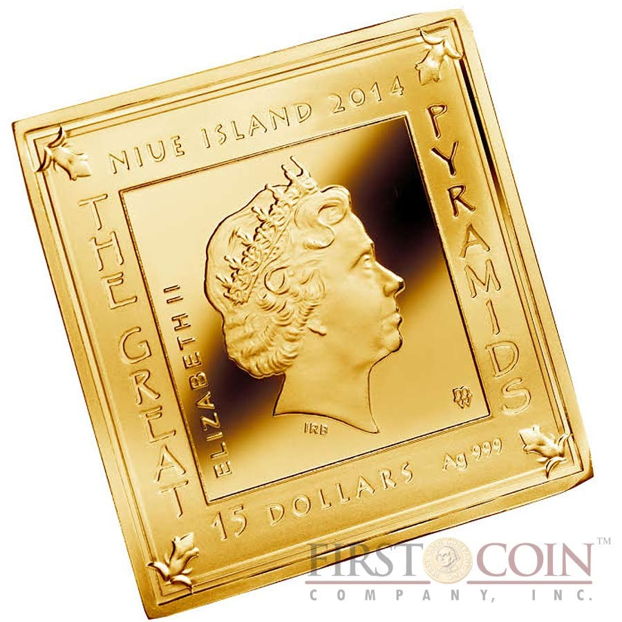 Niue Island THE GREAT PYRAMIDS TWO COIN SET Masterpiece of Mint Art $30 Silver coins Pyramid Shaped High Relief 2014 Proof Gold Plated 6 oz