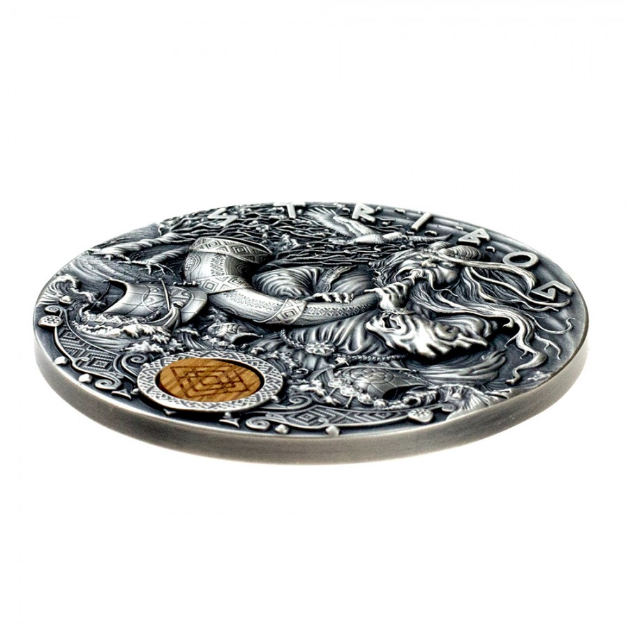 Niue Island STRIBOG series SLAVIC GODS Silver Coin $2 Antique finish 2020 Ultra High Relief 2 oz