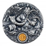 Niue Island STRIBOG series SLAVIC GODS Silver Coin $2 Antique finish 2020 Ultra High Relief 2 oz