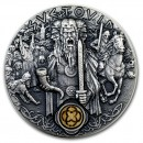 Niue Island SVETOVID series SLAVIC GODS Silver Coin $2 Antique finish 2019 Ultra High Relief 2 oz