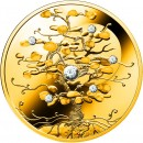 Niue Island THE TREE OF LUCK $100 Gold Coin 2019 Diamond insert Proof 1.5 oz