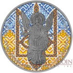 Ukraine COAT OF ARMS OF UKRAINE ARCHANGEL MICHAEL series THEMATIC DESIGN 1 Hryvnia 2015 Silver Coin Antique finish 1 oz
