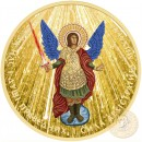 Ukraine GOD'S RAYS ARCHANGEL MICHAEL series THEMATIC DESIGN ₴1 Hryvnia 2015 Silver Coin 24K Yellow Gold plated 1 oz