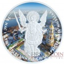 Ukraine KIEV CAPITAL ARCHANGEL MICHAEL series THEMATIC DESIGN 1 Hryvnia 2015 Silver Coin 1 oz