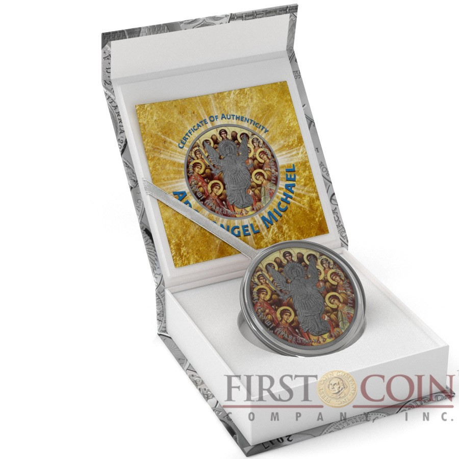 Ukraine SYNAXIS OF SAINTS ARCHANGEL MICHAEL series CHRISTIANITY THEMATIC DESIGN ₴1 Hryvnia 2015 Silver Coin Antique finish 1 oz