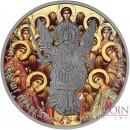 Ukraine SYNAXIS OF SAINTS ARCHANGEL MICHAEL series THEMATIC DESIGN 1 Hryvnia 2015 Silver Coin Antique finish 1 oz