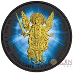 Ukraine THE SHINING OF THE SAINT ARCHANGEL MICHAEL series THEMATIC DESIGN 1 Hryvnia 2015 Silver Coin Black Ruthenium plated 1 oz