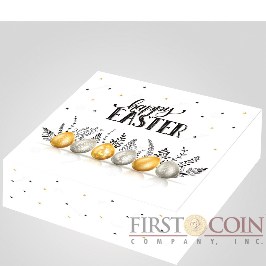 Republic of Cameroon HAPPY EASTER 500 Francs Silver Coin 2018 Egg shaped with cut-outs Proof