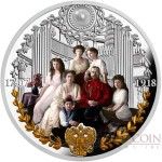 Republic of Cameroon IN MEMORY OF ROMANOV FAMILY RUSSIAN EMPIRE 1000 Francs Silver Coin 2018 Pearl insert Proof 1 oz