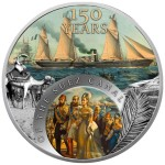 Niue Island 150TH YEARS OF THE SUEZ CHANNEL $1 Silver Сoin 2019 laser frosting digital printing proof 1 oz