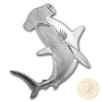 Solomon Islands HAMMERHEAD SHARK series HUNTERS OF THE DEEP $2 Silver Coin 2019 Shark shaped Proof 1 oz