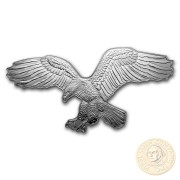 Solomon Islands BALD EAGLE series HUNTERS OF THE SKY $2 Silver Coin 2019 Eagle shaped Proof 1 oz