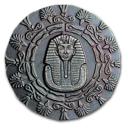 KING TUTANKHAMUN series RELIC Silver Coin-Bar 2020 Antique finish 1/4 oz