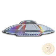Solomon Islands UFO ALIEN FLYING SAUCER $2 Silver Coin 2020 UFO shaped Proof 1 oz