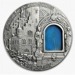 Niue Island SECRET OF LICHTENSTEIN $2 series CRYSTAL ART 2oz  Silver coin 2012