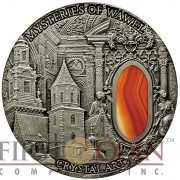 Niue Island MYSTERIES OF WAWEL series CRYSTAL ART $2 Silver coin 2013 Antique finish 2 oz