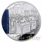 "Niue Ark of the Covenant ""Mysteries of History"" Silver Coin 2013 with Lapis Lazuli insert $2 Proof 2 oz"