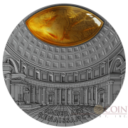 Niue Island RENAISSANCE series AMBER ART $5 Silver coin 2017 High Relief Antique finish Amber inlay 2 oz