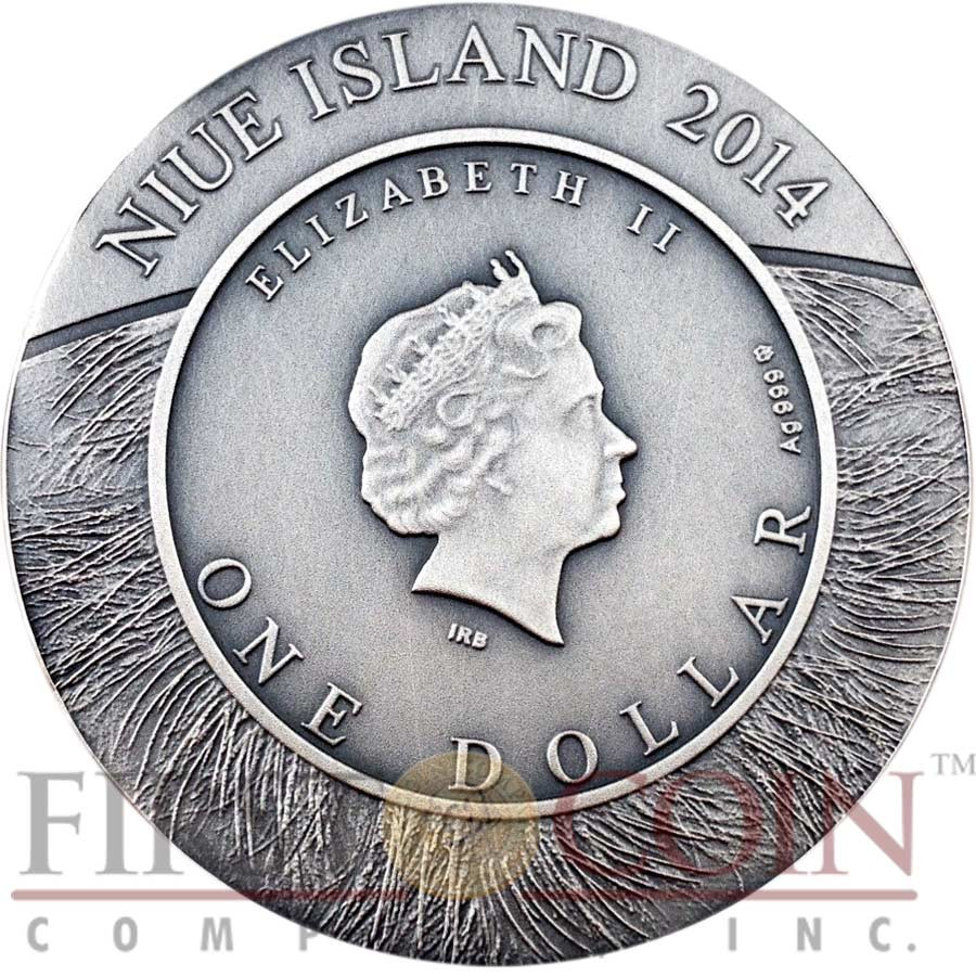 Niue Island Buffalo Of Wildlife Family Series 1 Silver