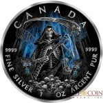 Canada GRIM REAPER series ARMAGEDDON $5 Canadian Maple Leaf Silver coin 2016 Black Ruthenium 1 oz