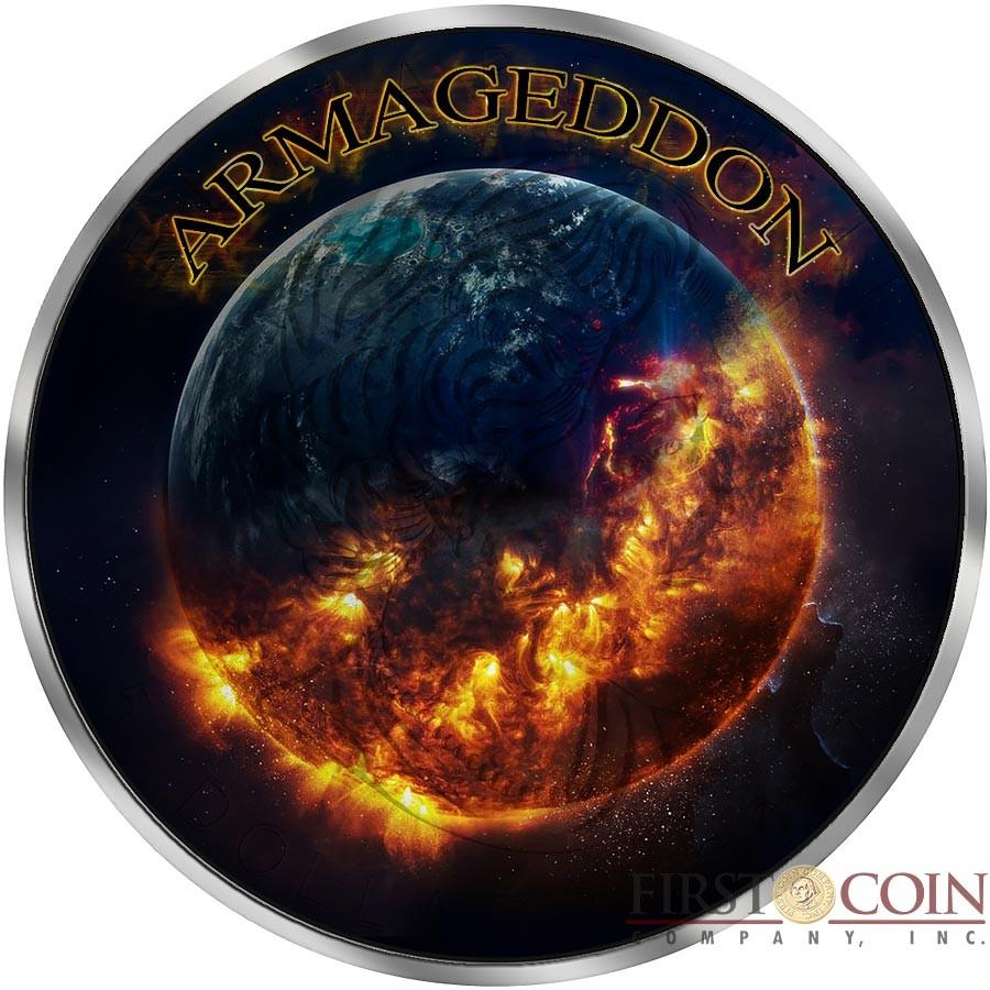 Canada GRIM REAPER series ARMAGEDDON $5 Canadian Maple Leaf Silver coin 2016 Black Ruthenium 1 oz