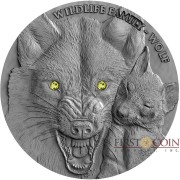Niue Island WOLF Series WILDLIFE FAMILY Silver coin $1 Ultra High Relief 2017 Antique Finish 1 oz