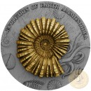 Niue Island AMMONITE - AMMONOIDEA Series EVOLUTION OF EARTH Silver Coin $2 Ruthenium and Gold plated 2018 Ultra High Relief 2 oz