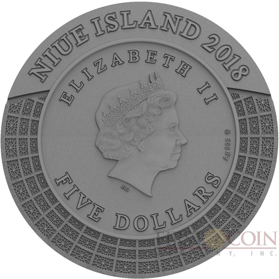 Niue Island HADES PLUTO series GODS OF OLYMPUS $5 Silver Coin 2018 Antique finish Ultra High Relief Rose Gold plated 2 oz