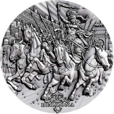 Niue Island BELLONA - GODDESS OF WAR series ROMAN GODS Silver Coin $2 Antique finish 2018 Ultra High Relief 2 oz