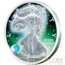 USA FROZEN AMERICAN SILVER EAGLE WALKING LIBERTY 2015 Silver Coin $1 Rhodium Plating UV Special printing 1 oz
