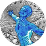 Niue Island IMMORTALITY series CODE OF THE FUTURE $2 Silver coin 2018 Glow in Dark Antique finish 2 oz