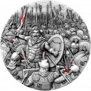 Niue Island LEONIDAS - KING OF 300 SPARTAN series GREAT COMMANDERS Silver Coin $5 Antique finish 2019 Ultra High Relief 2 oz