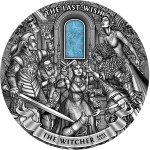 Niue Island THE WITCHER - THE LAST WISH Silver Coin $50 Antique finish 2019 Ultra High Relief Agate inlay 1 Kilo / 32 oz