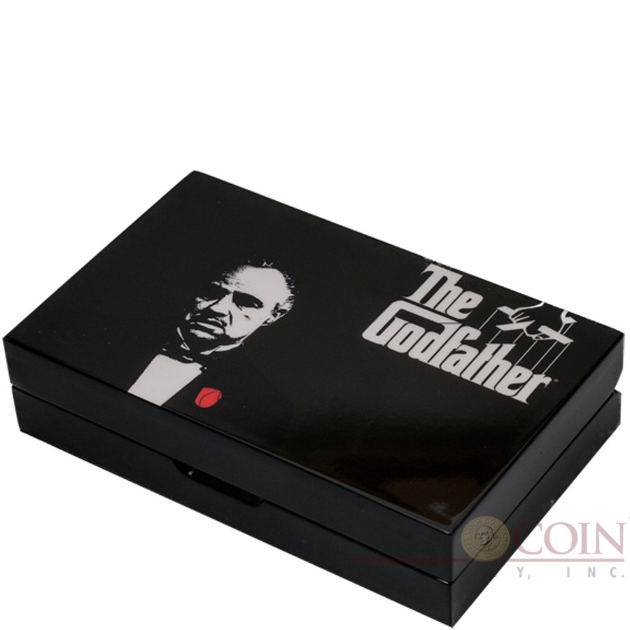 Niue Island THE GODFATHER - DON VITO CORLEONE $4 Two Silver Coin Set 2015 Proof 2 oz