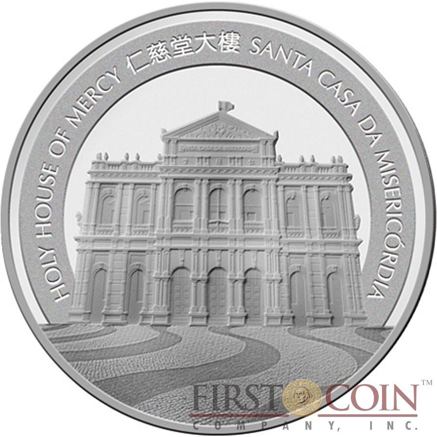 Macau Year of the Monkey 100 Patacas Lunar Calendar Series Colored Silver Coin 2016 Proof 5 oz