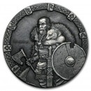 Niue Island RAGNAR series VIKING $2 Silver Coin Antique finish 2015 High relief 2 oz