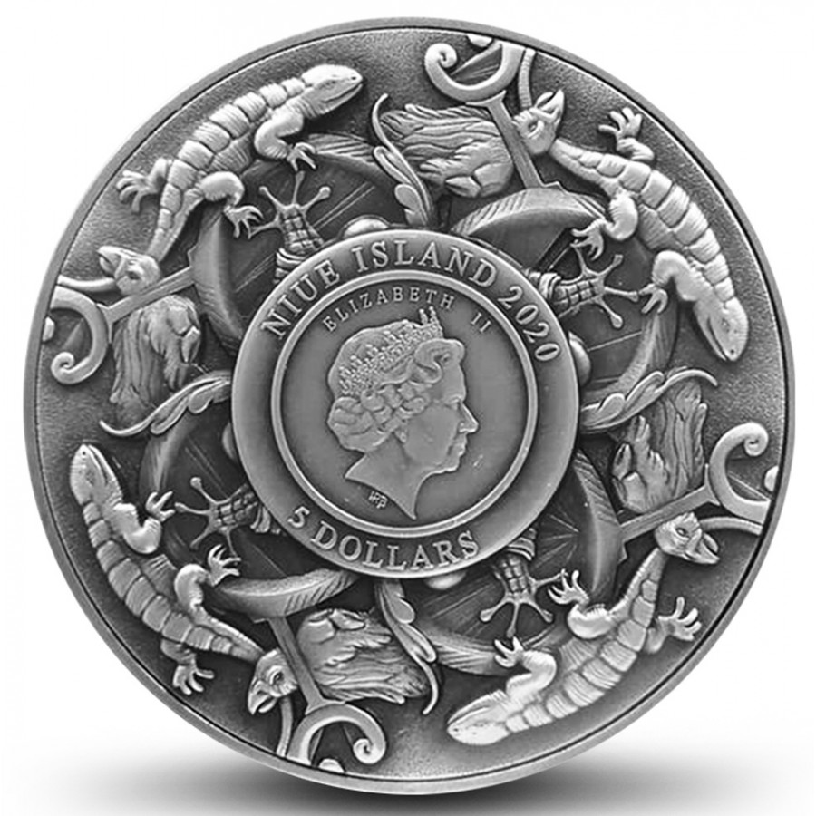 Niue Island HECTOR OF TROY series THE NINE WORTHIES $5 Silver Coin 2020 Antique finish Ultra High Relief 2 oz