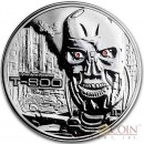 TERMINATOR T-800 Silver 99.9% coin round Proof 2 oz